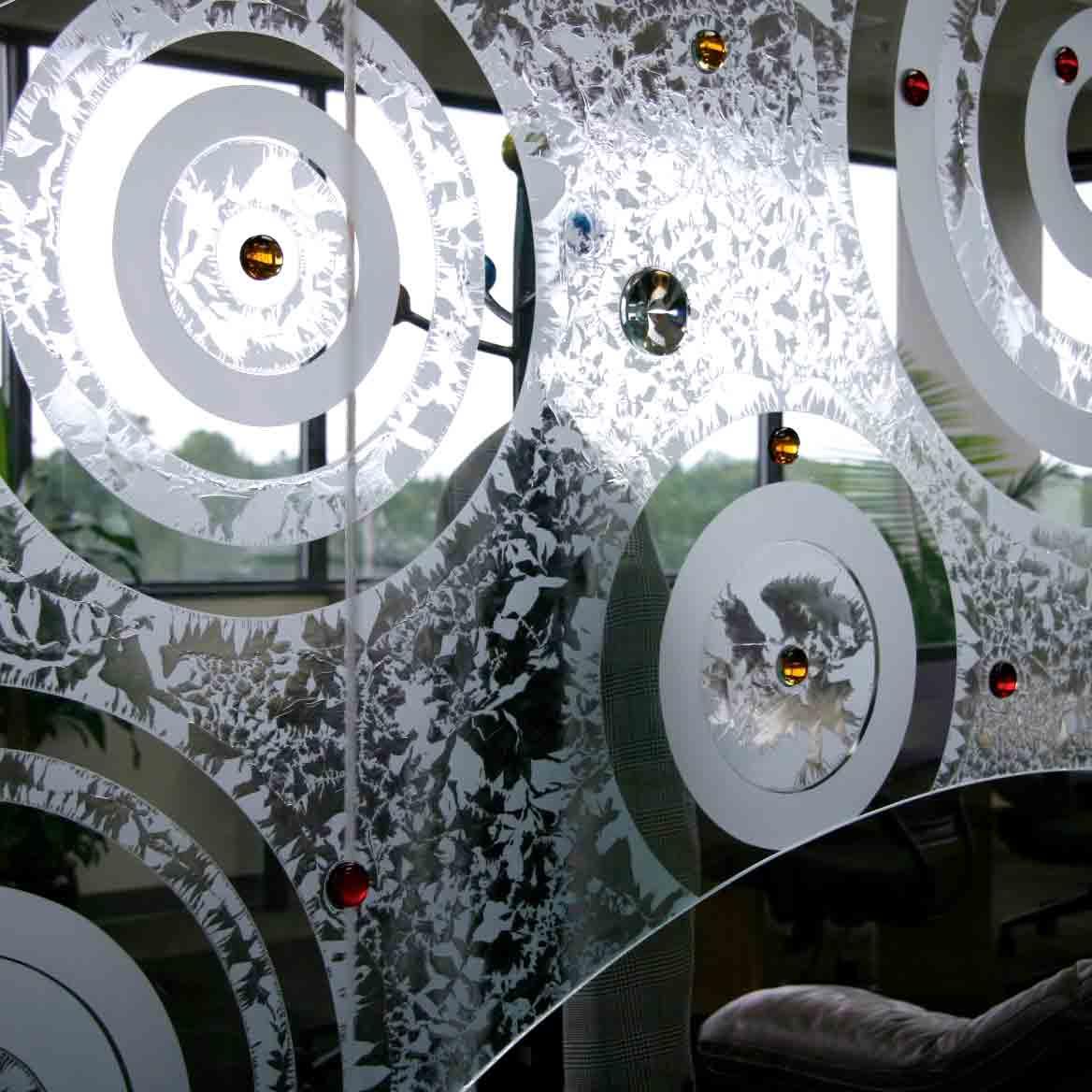 Glass Art Decor Center of the Earth Nancy Gong