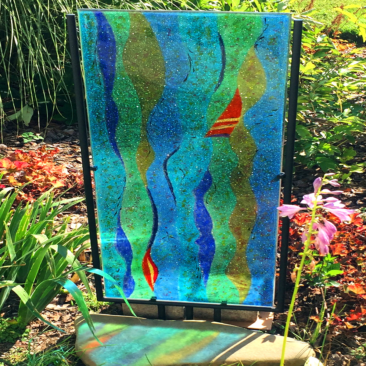 Glass Sculpture In The Garden Nancy Gong