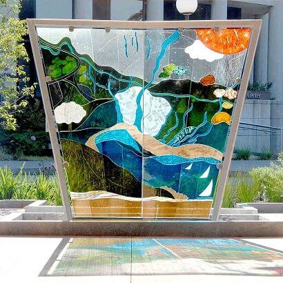 Glass Art Installation Genesee Nancy Gong
