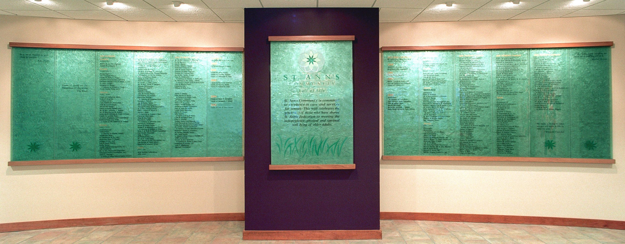 Nancy Gong Donor Recognition Wall